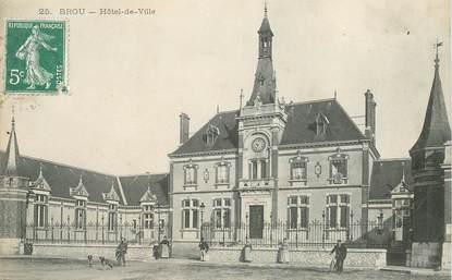 """CPA FRANCE 28 """"Brou, Hotel de ville """""""