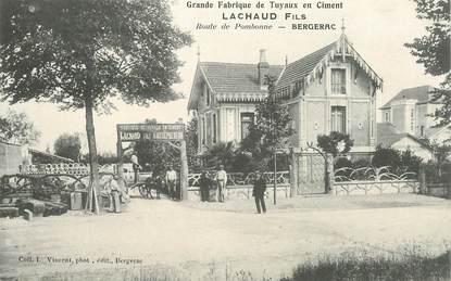 """CPA FRANCE 24 """"Bergerac, Grande fabrique de tuyaux en ciment, route de Pombonne"""""""