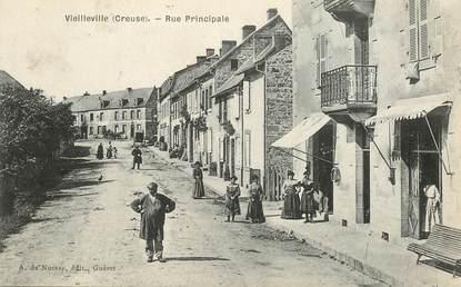 """CPA FRANCE 23 """"Vieilleville, la rue principale"""""""