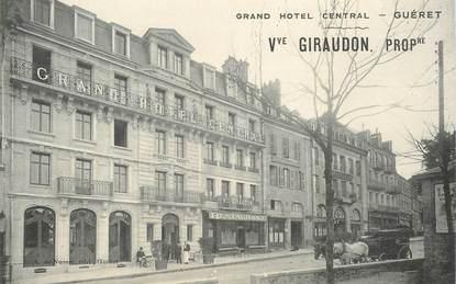 "CPA FRANCE 23 ""Guéret, Grand Hotel Central"""