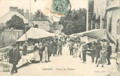 """CPA FRANCE 23 """"Gouzon, place de l'Eglise"""""""