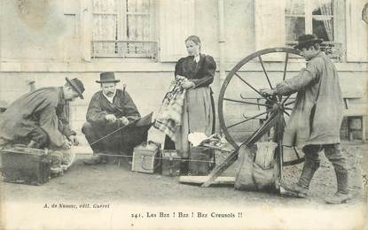 """CPA FRANCE 23 """"Types creusois"""""""