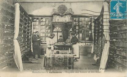 "CPA FRANCE 23 ""Aubusson, manufacture Tapis et tapisseries"""