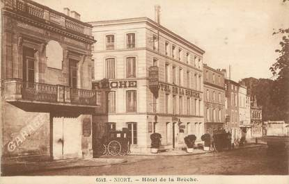 """/ CPA FRANCE 79 """"Niort, hôtel de la Brèche"""""""