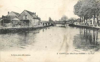"""/ CPA FRANCE 80 """"Cappy par Bray sur Somme, le port"""""""
