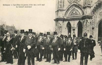 """CPA FRANCE 45 """"Orléans, Fêtes de Jeanne d'Arc 1913, le conseil municipal"""""""