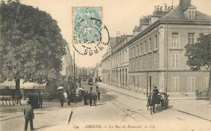 "/ CPA FRANCE 80 ""Amiens, la rue de Beauvais"""
