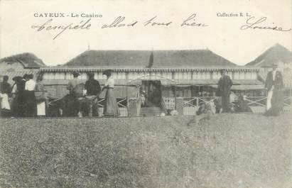 "/ CPA FRANCE 80 ""Cayeux, le casino"""