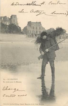 """/ CPA FRANCE 80 """"Le Crotoy, en route pour le Huteau"""""""