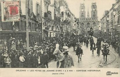 """CPA FRANCE 45 """"Orléans, les fêtes de Jeanne d'Arc, le cortège historique, Jeanne d'Arc"""""""