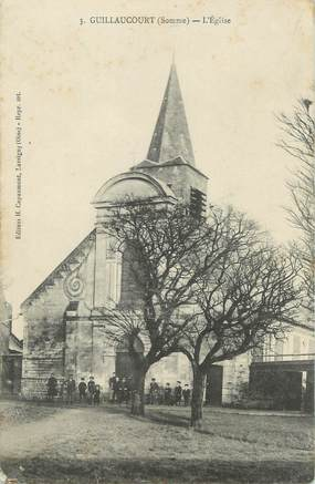 "/ CPA FRANCE 80 ""Guillaucourt, l'église"""