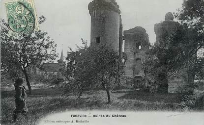 "/ CPA FRANCE 80 ""Folleville, ruines du château"""