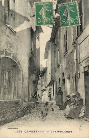 """CPA FRANCE 06 """"Cagnes, une rue arabe"""""""