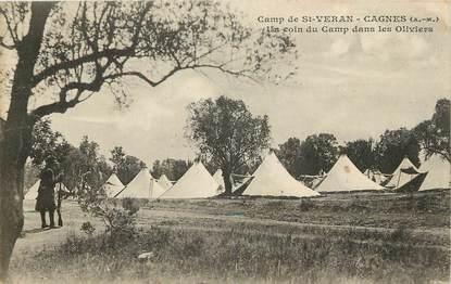 """CPA FRANCE 06 """"Cagnes, camp de Saint Veran, le camp dans les oliviers"""""""