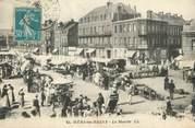 "80 Somme / CPA FRANCE 80 ""Mers Les Bains, le marché"""