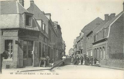 "/ CPA FRANCE 80 ""Mers Les Bains, rue d'Ault"""