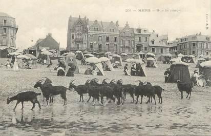 """/ CPA FRANCE 80 """"Mers, sur la plage"""" / CHEVRE"""