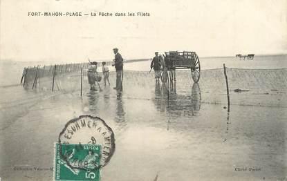 """/ CPA FRANCE 80 """"Fort Mahon Plage la pêche dans les filets"""""""