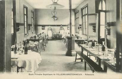 """/ CPA FRANCE 80 """"Villers Bretonneux, école primaire, réfectoire"""""""