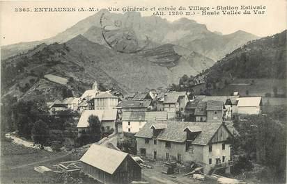 """CPA FRANCE 06 """"Entraunes, vue générale et entrée du village"""""""