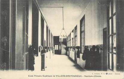 """/ CPA FRANCE 80 """"Villers Bretonneux, école primaire supérieure"""""""