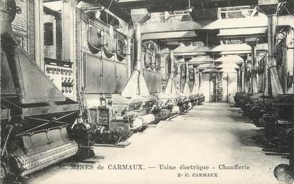 """/ CPA FRANCE 81 """"Mines de Carmaux, usines électrique, chaufferie"""""""