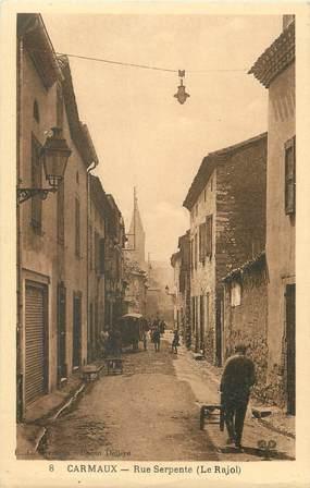 """/ CPA FRANCE 81 """"Carmaux, rue Serpente"""""""