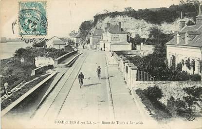 """CPA FRANCE 37 """"Fondettes, route de Tours à Langeais"""""""