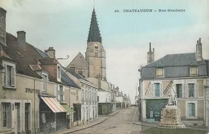 """CPA FRANCE 28 """"Châteaudun, la rue Gambetta """""""