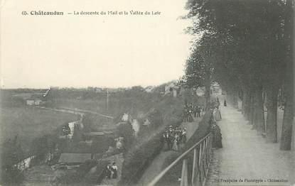 """CPA FRANCE 28 """"Châteaudun, la descente du Mail et la vallée du Loir"""""""
