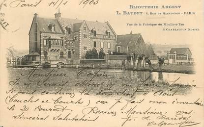 """CPA FRANCE 28 """"Châteaudun, vue de la Fabrique du Moulin à Tan, bijouterie"""""""