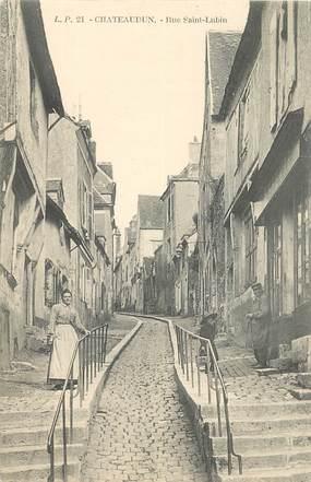 "CPA FRANCE 28 ""Châteaudun, la rue Saint Lubin"""