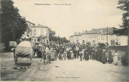 """/ CPA FRANCE 81 """"Puylaurens, av de Castres"""""""