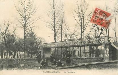 "/ CPA FRANCE 82 ""Castelsarrasin, la passerelle"""