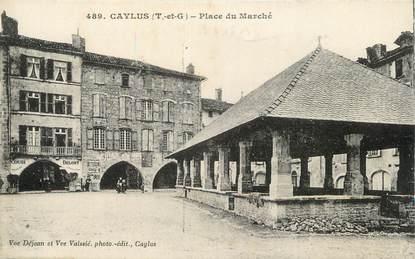 """/ CPA FRANCE 82 """"Caylus, place du marché"""""""