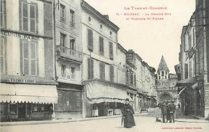 """/ CPA FRANCE 82 """"Moissac, la grande rue et clocher Saint Pierre"""""""
