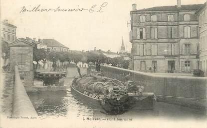 "/ CPA FRANCE 82 ""Moissac, pont tournant"" / PENICHE"