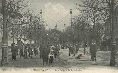 "/ CPA FRANCE 82 ""Montauban, les allées de Mortarieu"""