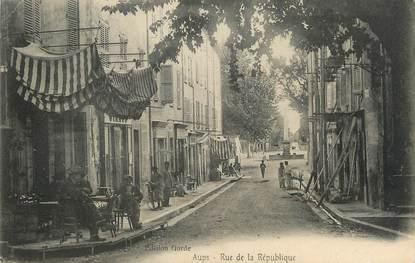 """/ CPA FRANCE 83 """"Aups, rue de la république """""""