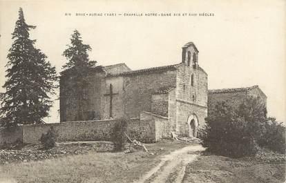 "/ CPA FRANCE 83 ""Brue Auriac, chapelle Notre Dame"""