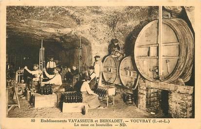 """CPA FRANCE 37 """"Etablissements Vavasseur et Bernadet, Vouvray, la mise en bouteilles"""""""
