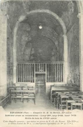 """/ CPA FRANCE 83 """"Esparron, chapelle Notre Dame du Revest"""""""