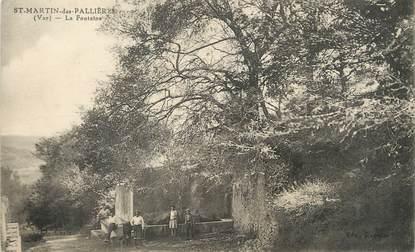 """/ CPA FRANCE 83 """"Saint Martin des Pallières, la fontaine"""""""