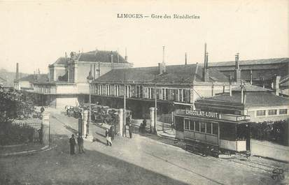 "/ CPA FRANCE 87 ""Limoges, gare des Bénédictins"" / TRAMWAY"