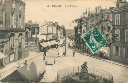 """/ CPA FRANCE 87 """"Limoges, place Fournier"""""""