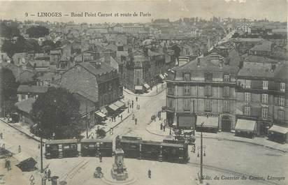 """/ CPA FRANCE 87 """"Limoges, rond point Carnot et route de Paris"""""""