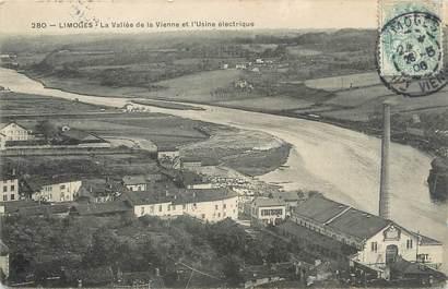 """/ CPA FRANCE 87 """"Limoges, la vallée de la Vienne et l'usine électrique"""""""