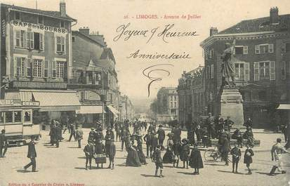 """/ CPA FRANCE 87 """"Limoges, av de Juillet"""""""