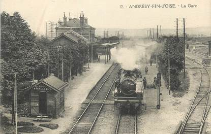 """/ CPA FRANCE 78 """"Andrésy Fin d'Oise, la gare"""""""