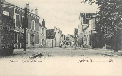 "/ CPA FRANCE 78 ""Achères, rue de Saint Germain"""